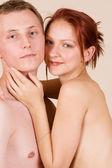 Femme et son petit ami — Photo