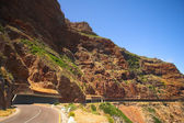 The winding road on Chapmans Peak, South Africa — Stock Photo