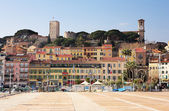 The skyline from the harbour square in Cannes, France — Stock Photo