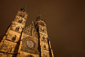 Church in Neurenburg at nighttime — Stock Photo