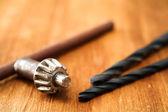 Outils sur table en bois — Photo