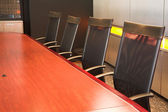 The interior of a modern conference room — Stock Photo