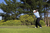 Man playing golf. — Stock Photo