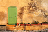 An old door in the famous Ile Sainte Marguerite Island Jail, across from Cannes, France — Stock Photo