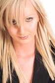 Blond business woman — Stock Photo