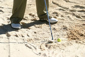 Golf im sand — Stockfoto