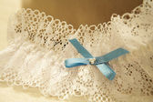 Close-up of a wedding garter. — Stock Photo