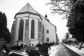 Cementerio cubierto de nieve — Foto de Stock