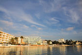 Private harbor in Juan Les Pins, France - panorama — Stock Photo
