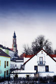 Basilica of St Jacob overlooking the Town of Straubing, Bavaria, Germany — Photo