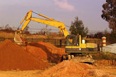 Earthmoving, equipment — Stock Photo