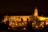Unionbuildings in Pretoria, South Africa at night time - Raining - copy space — Stock Photo