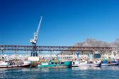Lodě z přístavu Kapské město, Jihoafrická republika — Stock fotografie