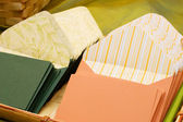 Writing paper and envelopes — Stock Photo