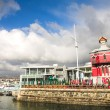 The Nelson Mandela Gateway to Robben Island and Clocktower at the Cape town Waterfront in South Africa — Stock Photo #22130349