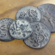 Antique ancient Greco-Roman coins from Turkey — Stock Photo