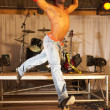 Single freestyle hip-hop dancer — Stock Photo