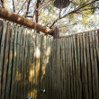 Stock Photo: Outdoor shower in africbush