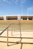 Steps going up to the Aspire Sports Centre in Doha, Qatar — Stock Photo