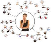 Sosyal ağlar — Stok fotoğraf