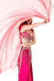 Lithe adult caucasian belly dancer — Stock Photo