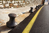 Barriers next to the road in Cannes — Stock Photo
