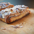 Stock Photo: Almond chocolate croissant
