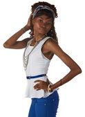 Siyah afrika kadın — Stok fotoğraf