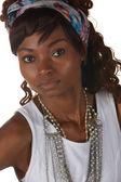 Zwarte afrikaanse vrouw — Stockfoto