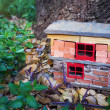 Handmade gnome house — Stock Photo