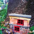 Handmade gnome house - Stock Photo