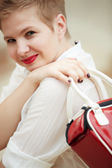 Beautiful fashion model — Stock Photo