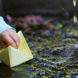 Paper origami Boat - Stock Photo
