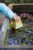 Paper origami Boat — Stock Photo
