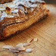 Almond chocolate croissant — Stock Photo