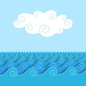 Cloud over the sea — Stock Vector