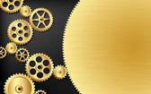 Golden gears — Stock Vector