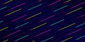Fondo azul oscuro con franjas diagonales brillantes — Vector de stock