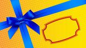 Arco azul sobre um fundo amarelo — Vetor de Stock
