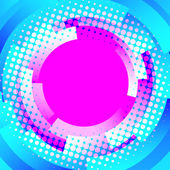 Abstract disco background with circles and dots — Stock Vector