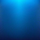 Blauer hintergrund mit wellenlinien — Stockvektor