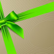 Green bow on a textural background — Grafika wektorowa