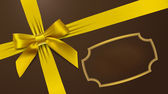 Gold bow on background — Vector de stock