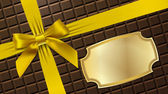 Gold bow on a textural background — Stok Vektör