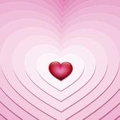 Kleine hart — Stockvector