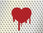 Corazón de espinas con sangre, ilustración vectorial — Vector de stock