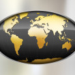 Metal Abstract background with globe — Stockvektor