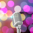 Microphone on stage — Stock Vector