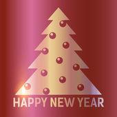 Shine Christmas tree with toys — Stock Vector