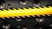 Fencing tape broken glass — Stock Vector